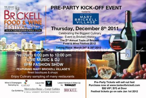 Taste of Brickell Pre-Party